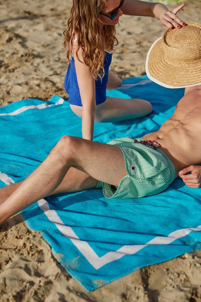 Serviette de plage unie...