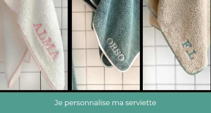 Broderie personnalisée serviette de bain